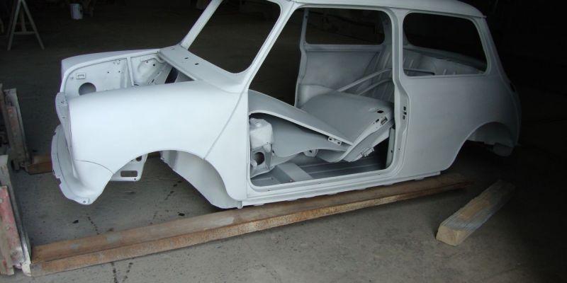 Fijnstralen van carrosserie